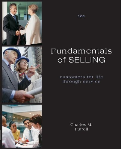 Fundamentals of Selling  12th 2011 edition cover