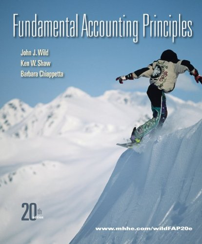 Fundamental Accounting Principles  20th 2011 9780077505998 Front Cover