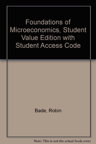 Foundations of Microeconomics  6th 2013 edition cover