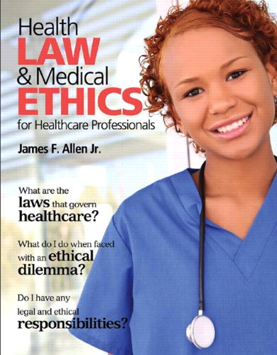 Health Law and Medical Ethics   2013 (Revised) edition cover