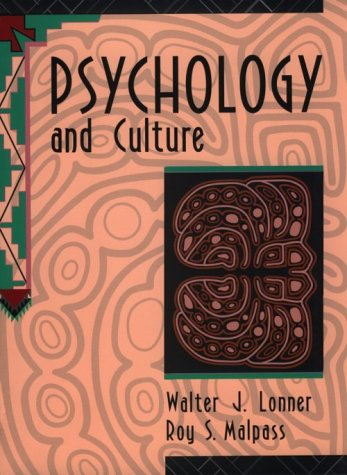 Psychology and Culture  1st 1994 edition cover
