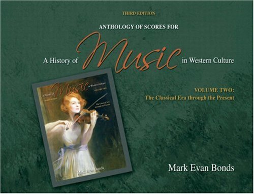Anthology of Scores for a History of Music in Western Culture  3rd 2010 edition cover