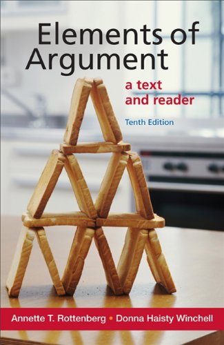 Elements of Argument A Text and Reader 10th 2012 9780312646998 Front Cover