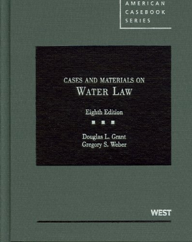 Cases and Materials on Water Law, 8th  8th 2010 (Revised) edition cover