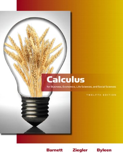 Calculus for Business, Economics, Life Sciences and Social Sciences  12th 2011 edition cover