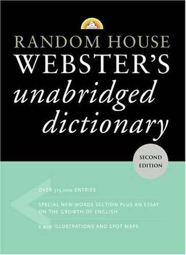 Random House Webster's Unabridged Dictionary  2nd (Large Type) 9780375425998 Front Cover