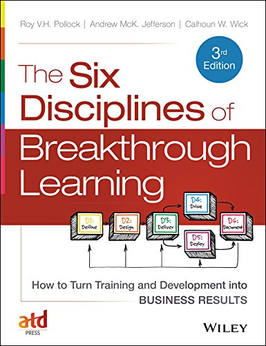 The Six Disciplines of Breakthrough Learning: How to Turn Training and Development into Business Results 3rd 2015 edition cover