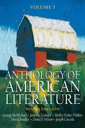Anthology of American Literature  9th 2007 (Revised) edition cover