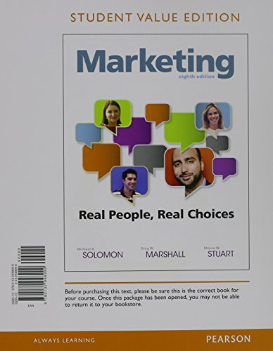 Marketing: Real People, Real Choices; Student Value Edition  2015 edition cover