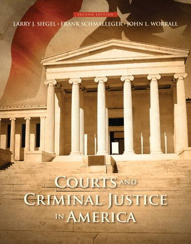 Courts and Criminal Justice in America  2nd 2015 edition cover