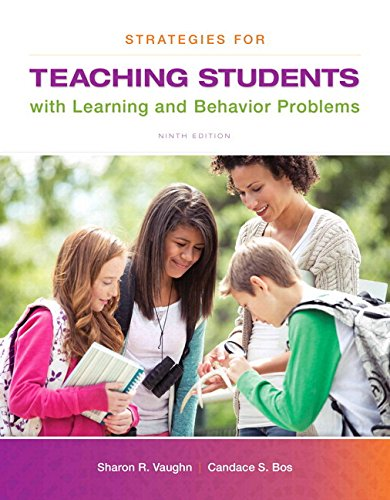 Strategies for Teaching Students with Learning and Behavior Problems  9th 2015 edition cover