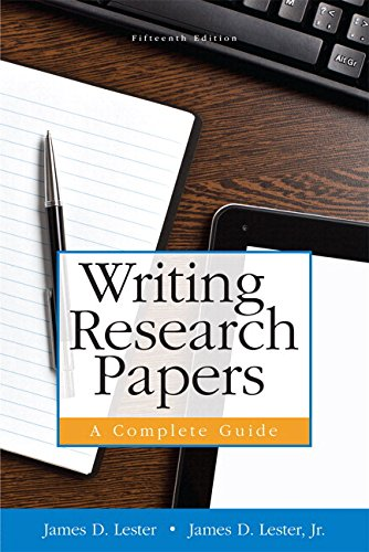 Writing Research Papers A Complete Guide (paperback) Plus MyWritingLab with Pearson EText -- Access Card Package 15th 2015 edition cover