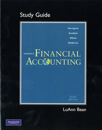Study Guide for for Introduction to Financial Accounting  10th 2011 edition cover