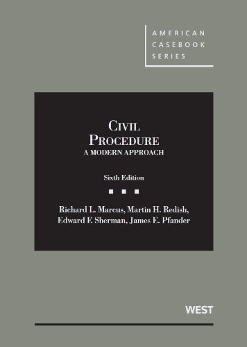 Civil Procedure: A Modern Approach  2013 edition cover