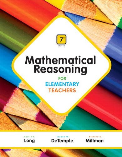 Mathematical Reasoning for Elementary Teachers  7th 2015 edition cover
