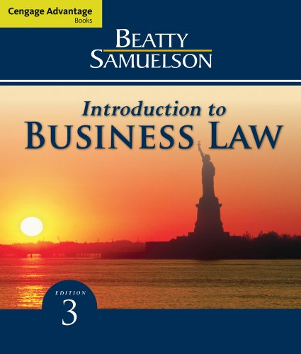 Introduction to Business Law  3rd 2010 edition cover