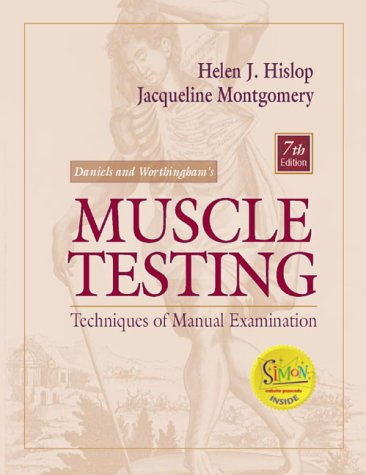 Daniels and Worthingham's Muscle Testing Techniques of Manual Examination 7th 2002 (Revised) edition cover