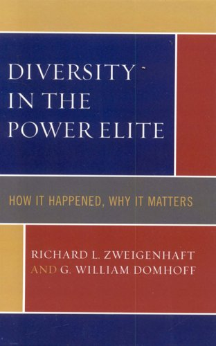 Diversity in the Power Elite How It Happened, Why It Matters 2nd 2006 edition cover
