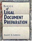 Basics of Legal Document Preparation  1st 1997 9780827367999 Front Cover