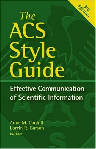 ACS Style Guide Effective Communication of Scientific Information 3rd 2006 (Revised) edition cover