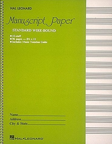 Standard Wirebound Manuscript Paper (Green Cover)  N/A edition cover