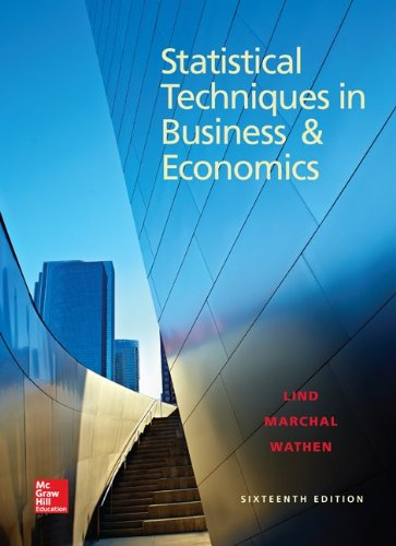Statistical Techniques in Business and Economics  16th 2015 9781259288999 Front Cover