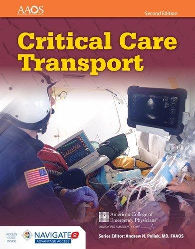 Critical Care Transport + Navigate 2 Advantage Access Card:   2016 9781284040999 Front Cover