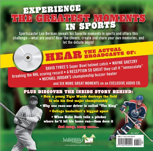 Greatest Moments in Sports   2009 9781402220999 Front Cover