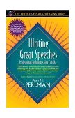Writing Great Speeches Professional Techniques You Can Use 1997 9780205273003 Front Cover