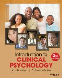 Introduction to Clinical Psychology An Evidence-Based Approach 2nd 2014 9781118360019 Front Cover