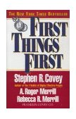 First Things First 1996 9780684802039 Front Cover