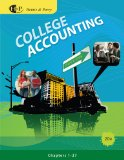 College Accounting 20th 2010 9780538737043 Front Cover