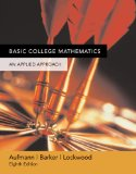 Basic College Mathematics An Applied Approach 8th 2005 Student Manual, Study Guide, etc.  9780618503056 Front Cover