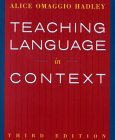 Teaching Language in Context 3rd 2000 Revised  9780838417058 Front Cover