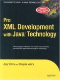 Pro XML Development with Java Technology 2006 9781590597064 Front Cover