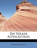 Die V�lker Altpal�stinas 2011 9781241636081 Front Cover