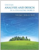 Systems Analysis and Design in a Changing World 6th 2011 9781111534158 Front Cover