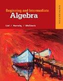 Beginning and Intermediate Algebra:  9780321969163 Front Cover