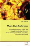 Music Style Preference 2008 9783639111163 Front Cover