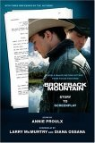 Brokeback Mountain Story to Screenplay 1st 2005 9780743294164 Front Cover