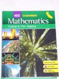 California Holt Mathematics: Pre-Algebra, Course 2 cover art