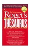 New American Roget's College Thesaurus in Dictionary Form 2002 9780451207166 Front Cover