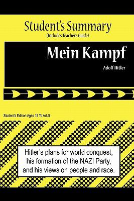 Mein Kampf Analysis and Summary(Sutdent's and Teacher's Edition) May  9780984536177 Front Cover