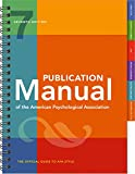 Publication Manual of the American Psychological Association:
