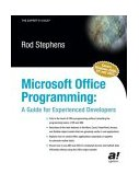 Microsoft Office Programming A Guide for Experienced Developers 1st 2003 9781590591215 Front Cover