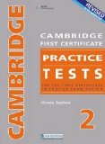 Revised Cambridge First Certificate Practice Tests 2 2008 9781408009222 Front Cover