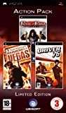 Case art for Triple Pack: Prince Of Persia: Revelations , Driver '76 and Rainbow Six Vegas (PSP)