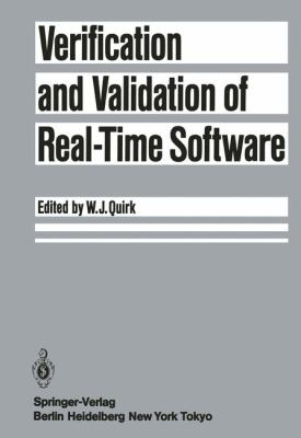Verification and Validation of Real-Time Software 2011 9783642702266 Front Cover