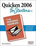 Quicken 2006 for Starters: the Missing Manual The Missing Manual 2005 9780596101275 Front Cover