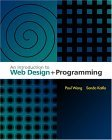 Introduction to Web Design and Programming 2003 9780534395285 Front Cover